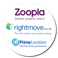 We're on Rightmove, Zoopla and PrimeLocation