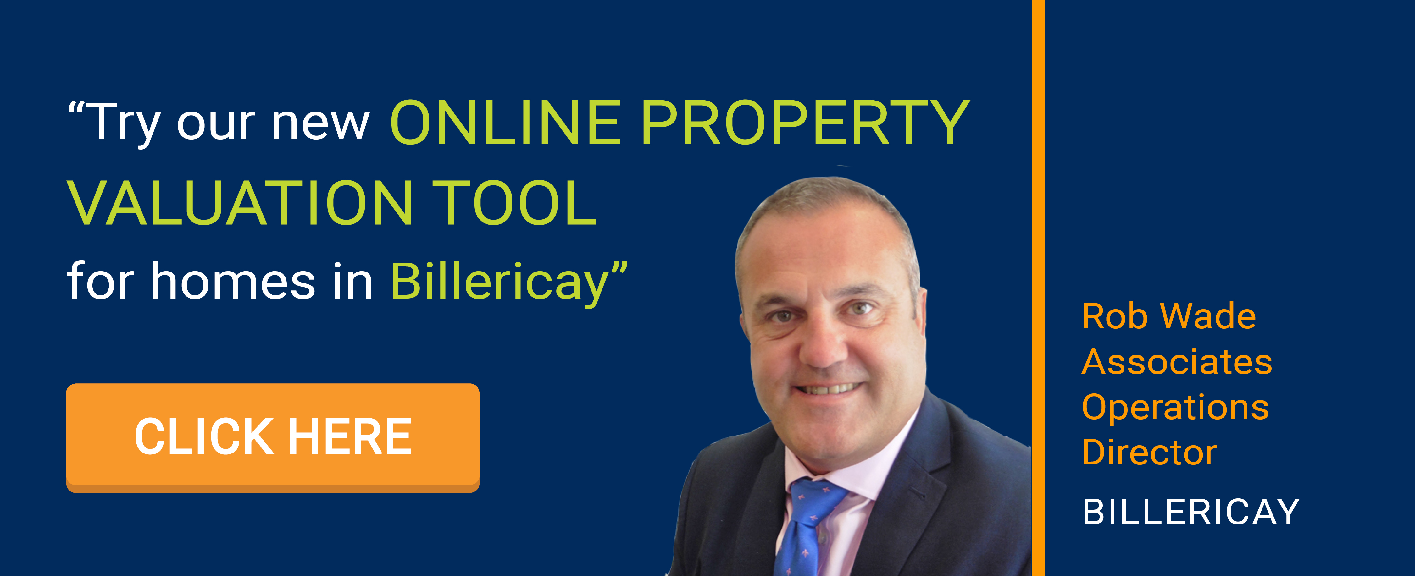 Online Valuation Tool website banner Billericay